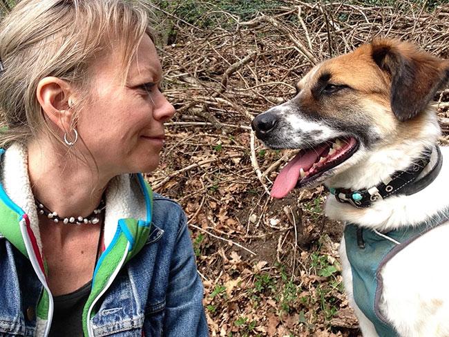 Jennifer Bosbach mit Balou